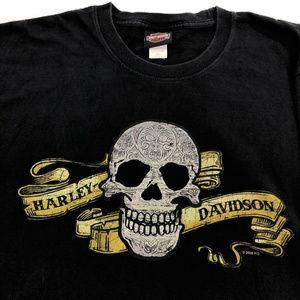 Harley-Davidson Las Vegas Mens XL Skull T-Shirt